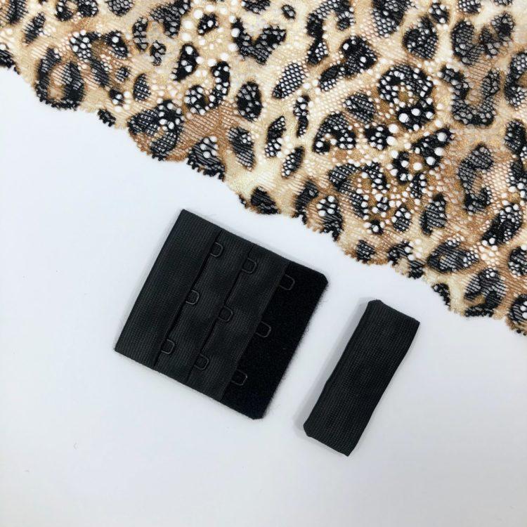 Застёжка текстильная чёрная 3х3
