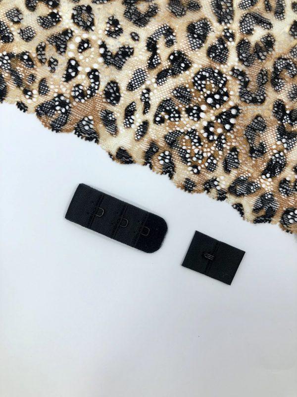 Застёжка текстильная чёрная 1х3