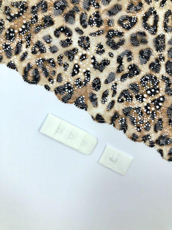 Застёжка текстильная белая 1х3
