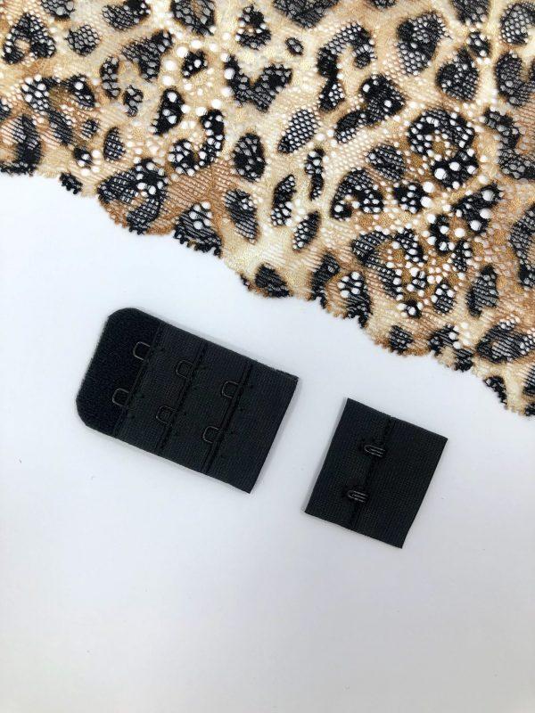 Застёжка текстильная чёрная 2х3
