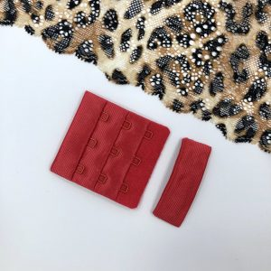 Застёжка текстильная красная 3х3