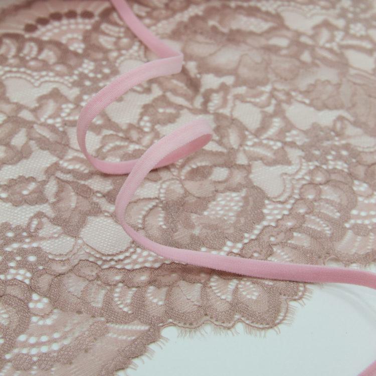 Резинка бретелечная 5 мм матовая розовая