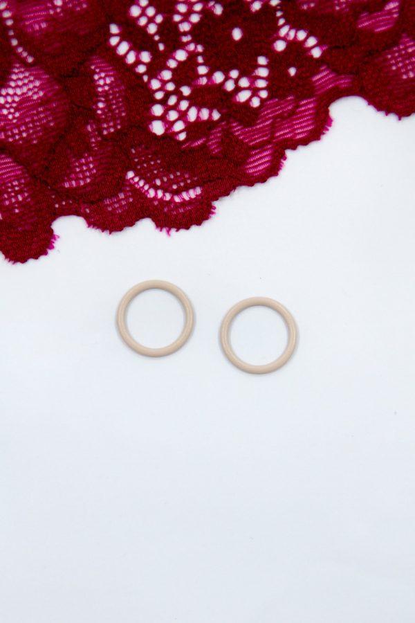 Кольцо металлическое бельевая фурнитура ∅1 см бежевое