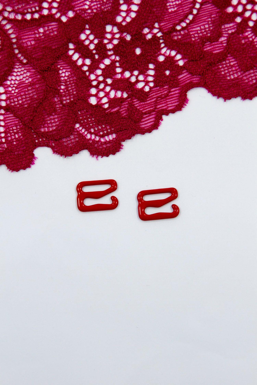 Крючок металлический 1 см красный бельевая фурнитура