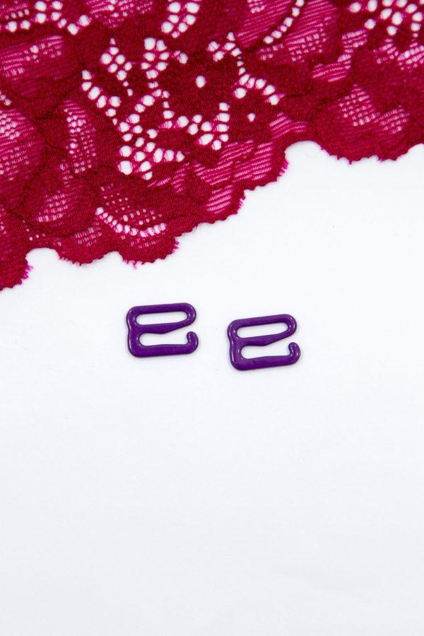 Крючок металлический 1 см фиолетовый бельевая фурнитура