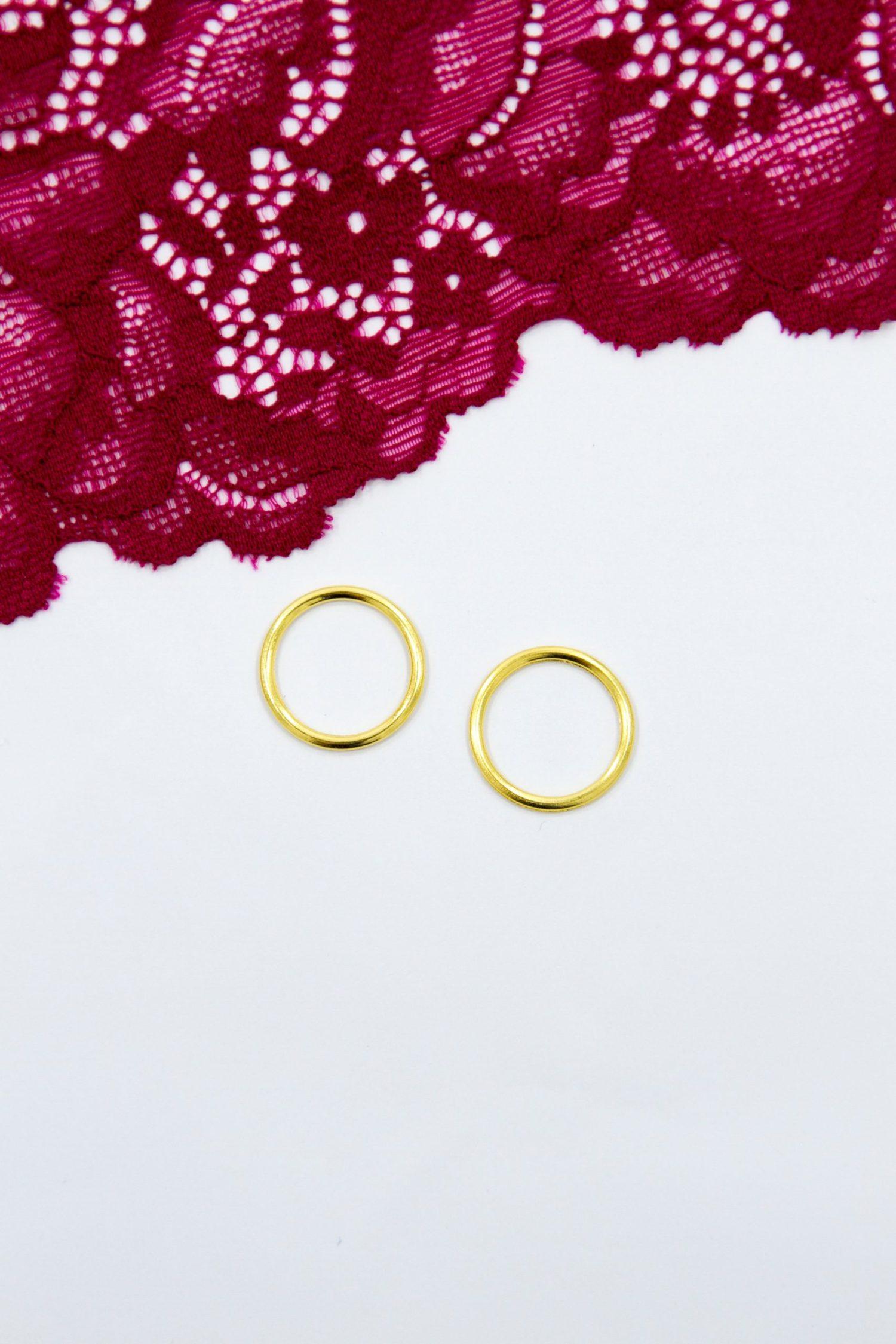 Кольцо металлическое бельевая фурнитура ∅1.5 см золото