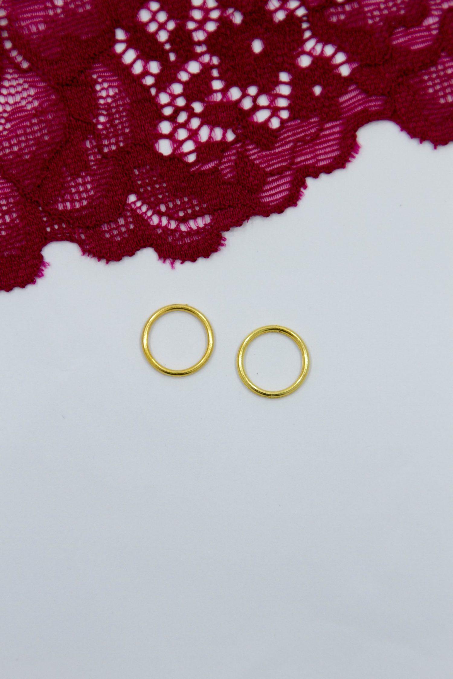 Кольцо металлическое бельевая фурнитура ∅1 см жёлтое золото