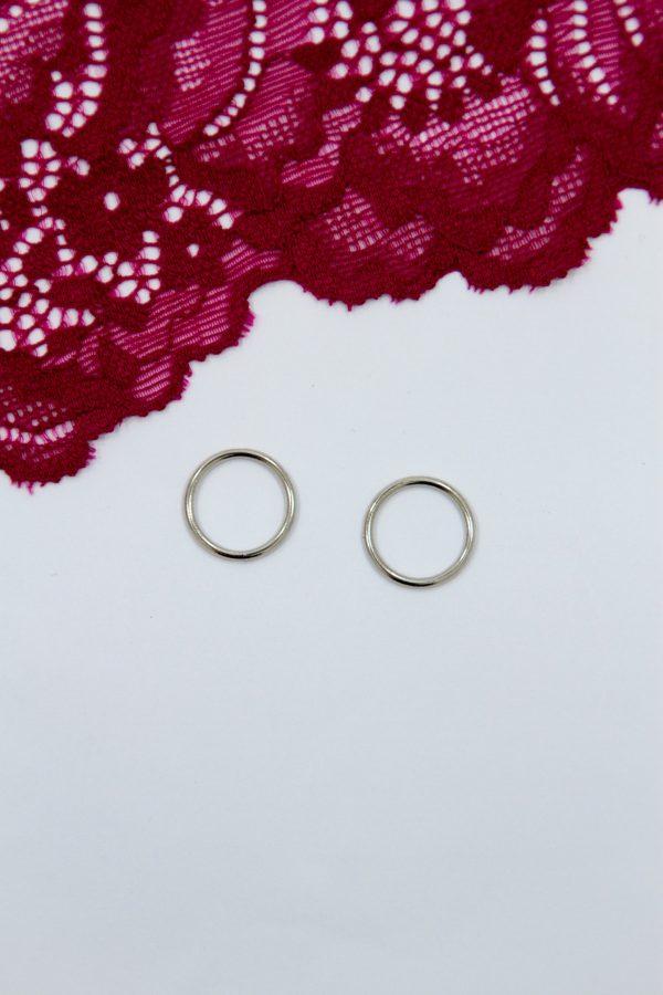 Кольцо металлическое бельевая фурнитура ∅1.2 см серебро