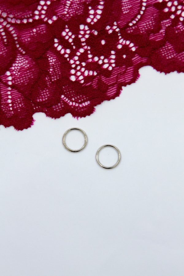 Кольцо металлическое бельевая фурнитура ∅1 см серебро