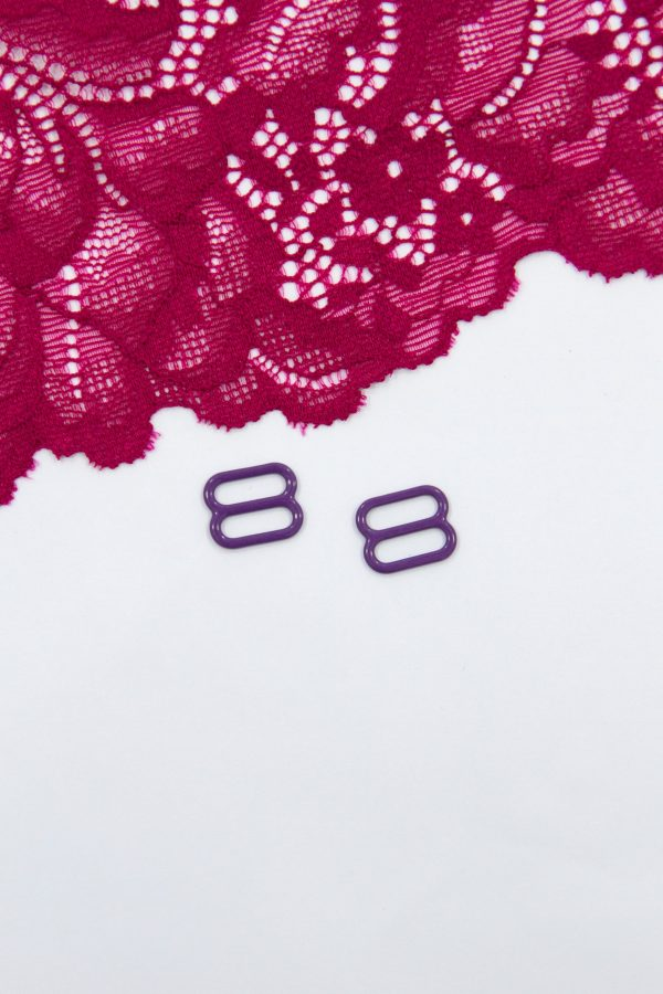 Регулятор металлический бельевая фурнитура 1 см фиолетовый