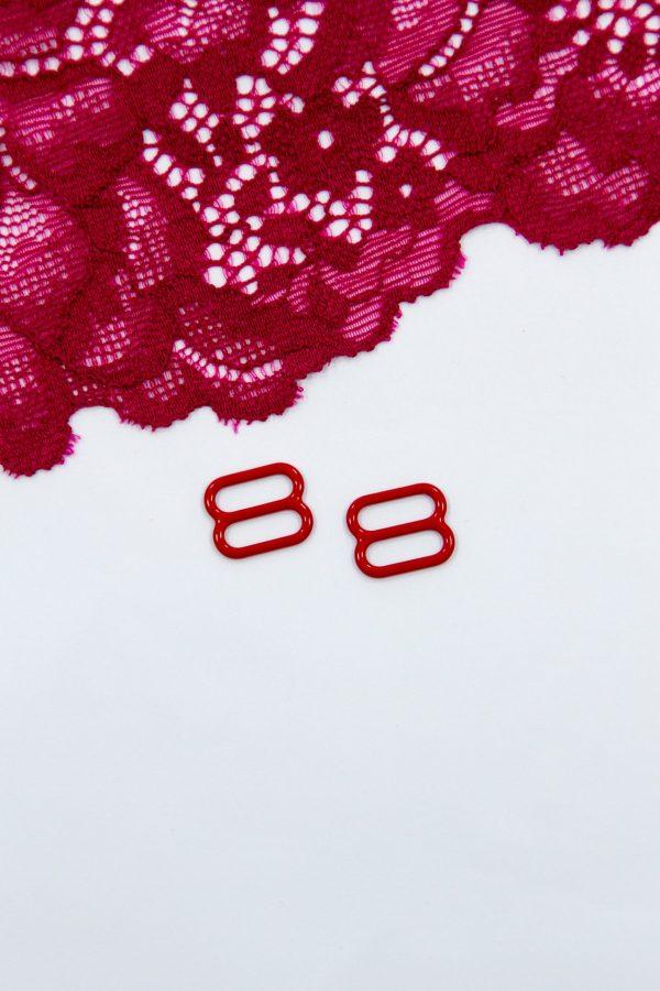 Регулятор металлический бельевая фурнитура 1 см красный