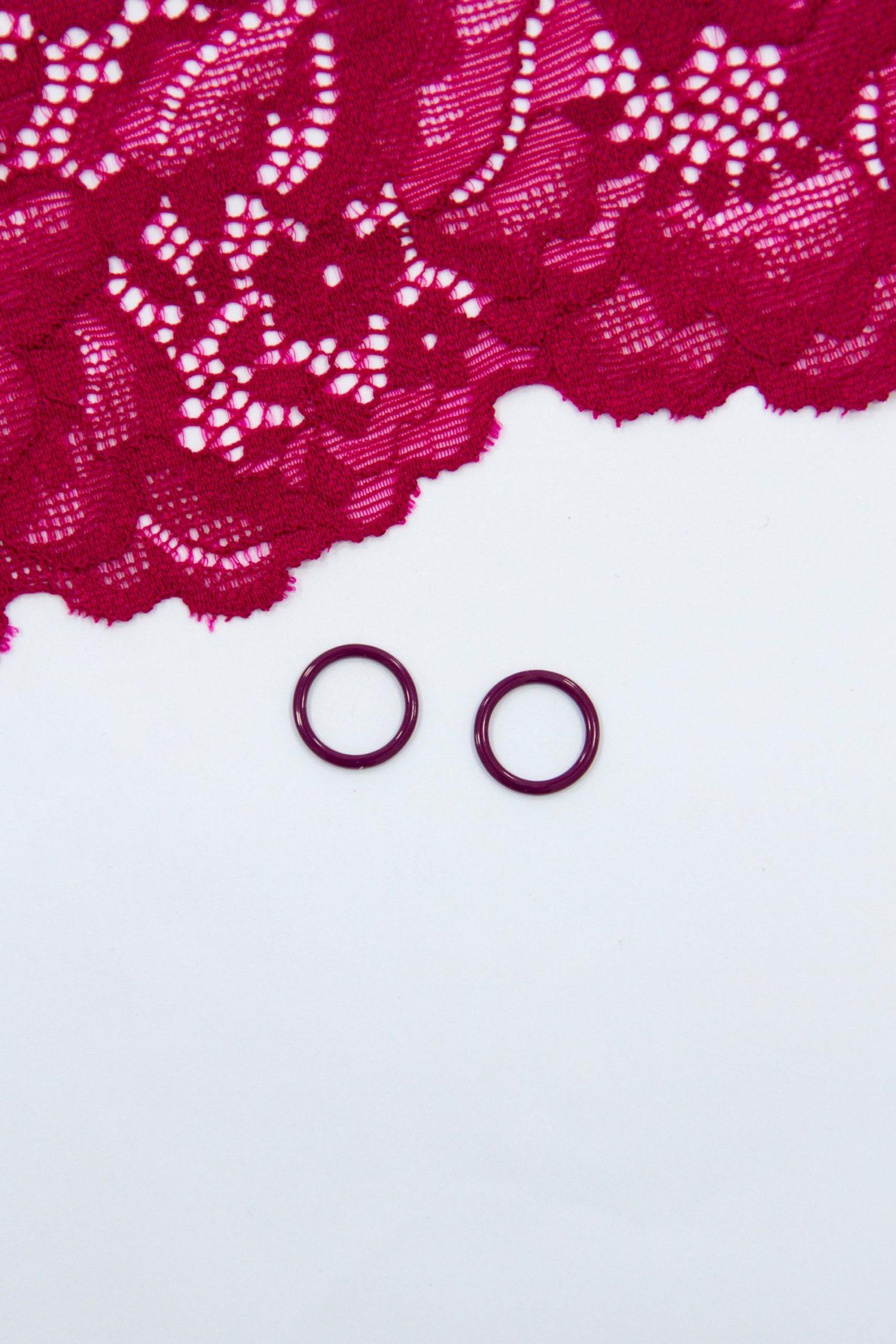Кольцо металлическое бельевая фурнитура ∅1 см слива