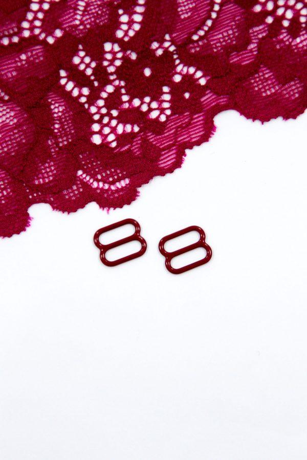 Регулятор металлический бельевая фурнитура 1 см бордовый