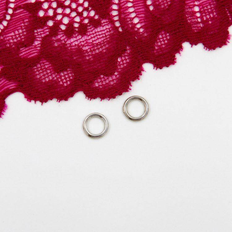 Кольцо металлическое бельевая фурнитура ∅0.6 см серебро