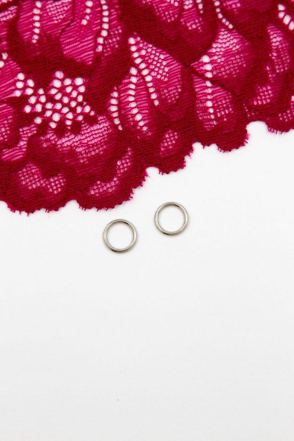 Кольцо металлическое бельевая фурнитура ∅0.8 см серебро
