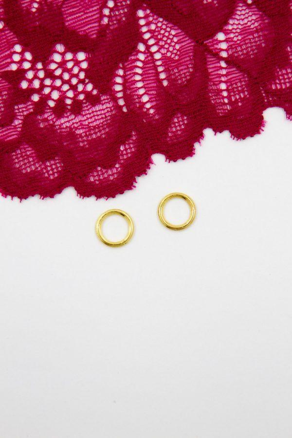 Кольцо металлическое бельевая фурнитура ∅0.8 см золото