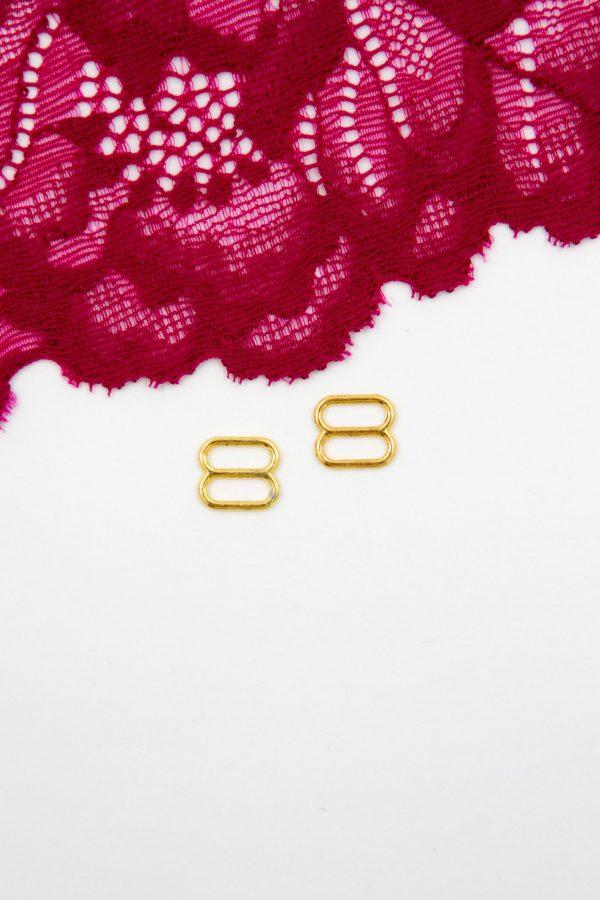 Регулятор металлический бельевая фурнитура 0.8 см золотой