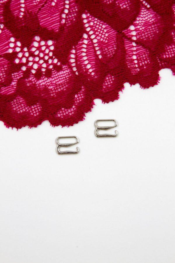 Крючок металлический бельевая фурнитура 0.8 см серебро
