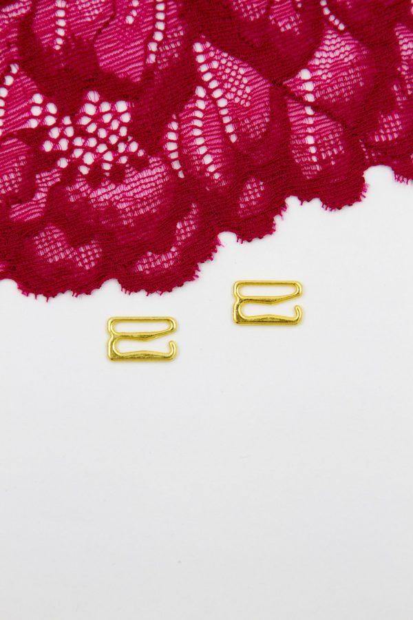 Крючок металлический бельевая фурнитура 1.2 см золотой