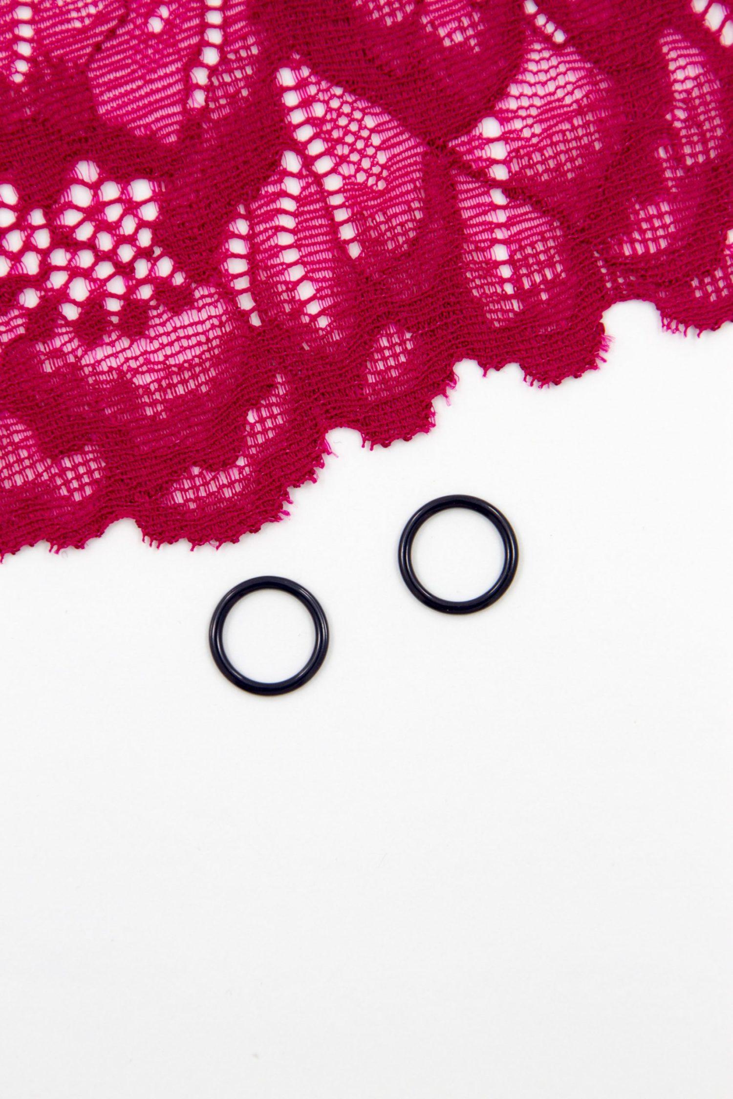 Кольцо металлическое бельевая фурнитура ∅1 см тёмно-синее