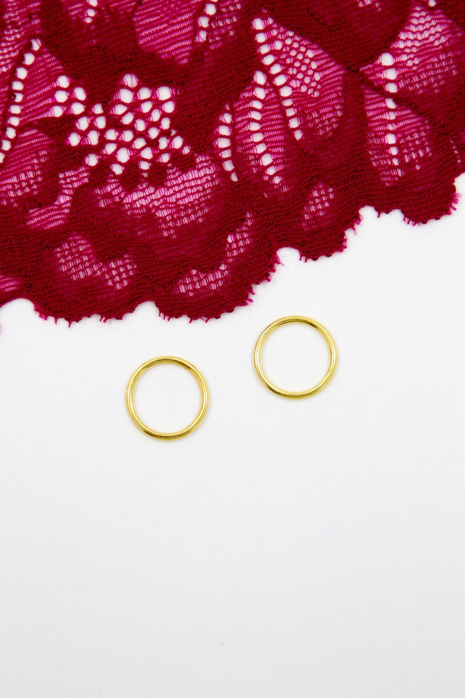 Кольцо металлическое бельевая фурнитура ∅1.2 см золотое
