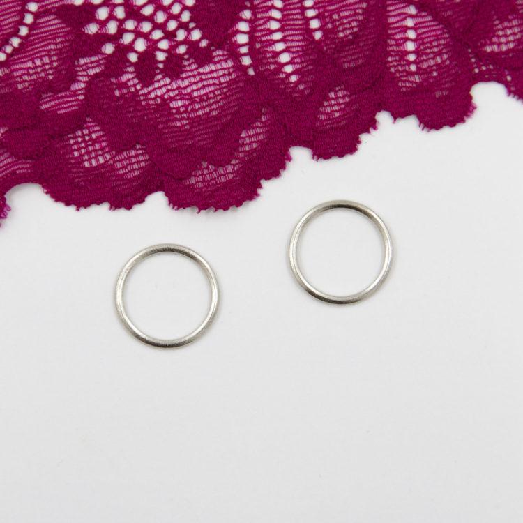 Кольцо металлическое бельевая фурнитура ∅1.5 см серебро