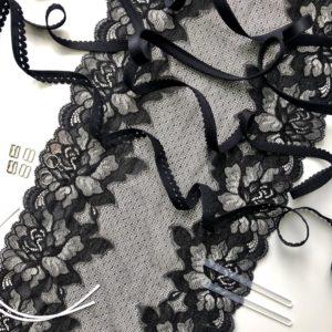 Набор для пошива нижнего белья чёрный №211