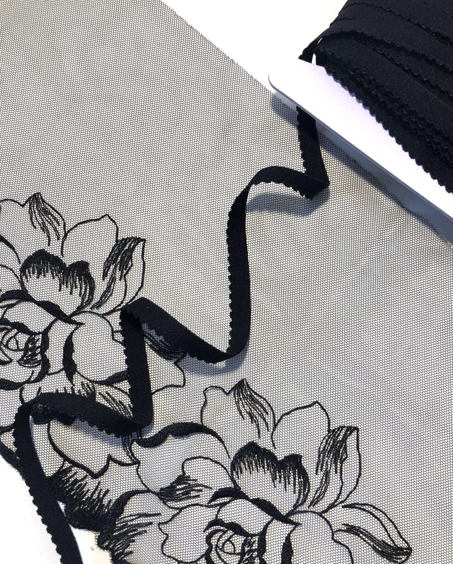Резинка становая 10 мм чёрная