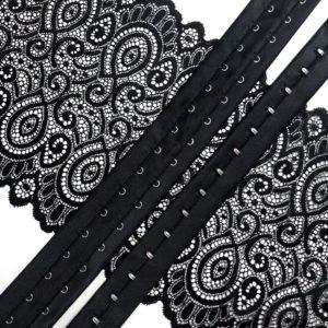 Застёжка на ленте 2 ряда чёрная