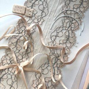 Набор для пошива нижнего белья персико-бежевый с серым №217