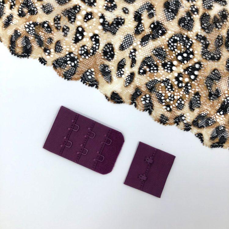 Застёжка текстильная слива 2х3