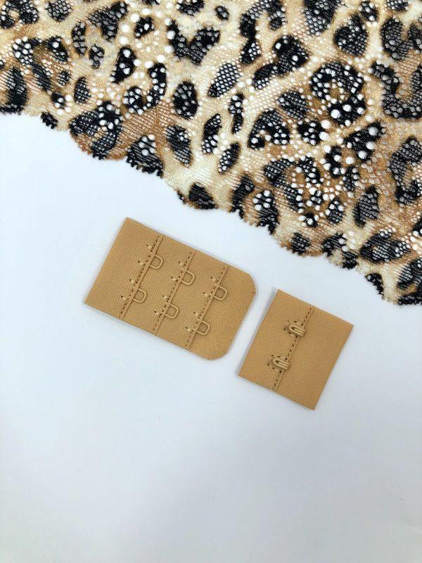 Застёжка текстильная загорелый телесный 2х3