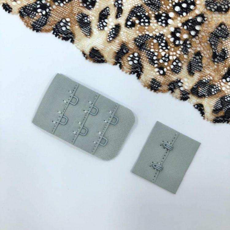 Застёжка текстильная светло-серый 2х3