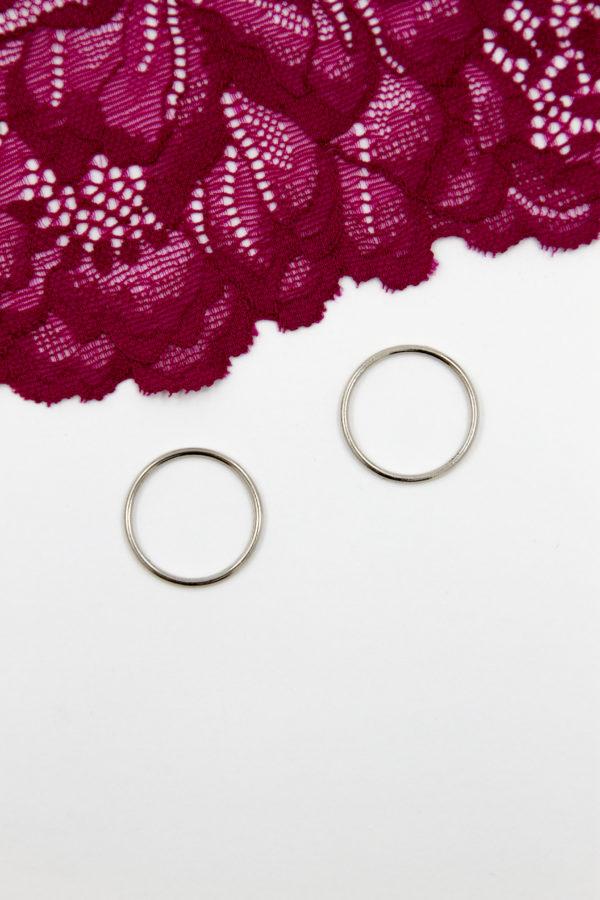 Кольцо металлическое бельевая фурнитура ∅2 см серебро