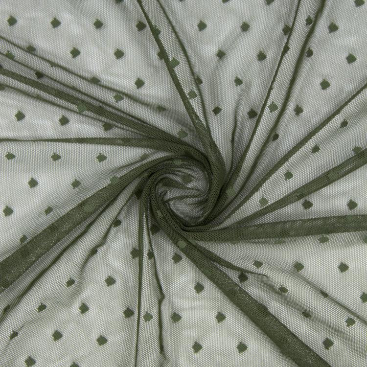 Сетка эластичная хаки в горошек