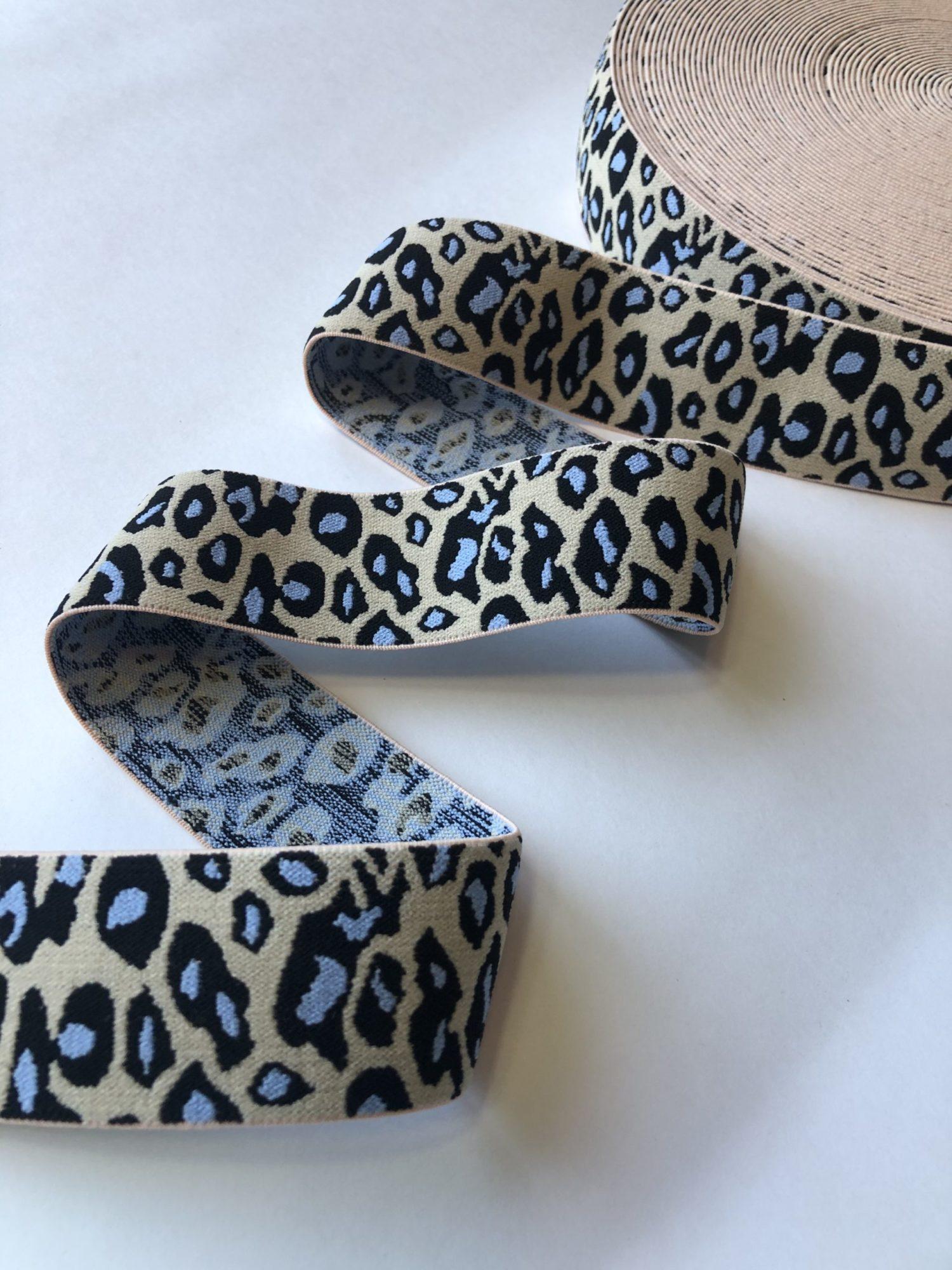 Резинка каркасная мягкая 40 мм леопард