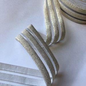 Резинка каркасная с прозрачными вставками 50 мм золото