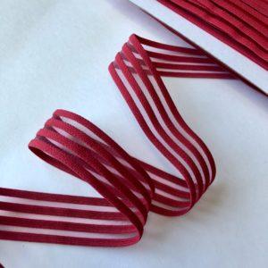 Резинка каркасная с прозрачными вставками 30 мм красная