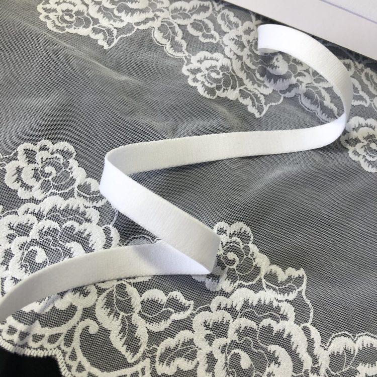 Резинка бретелечная 12 мм матовая белая