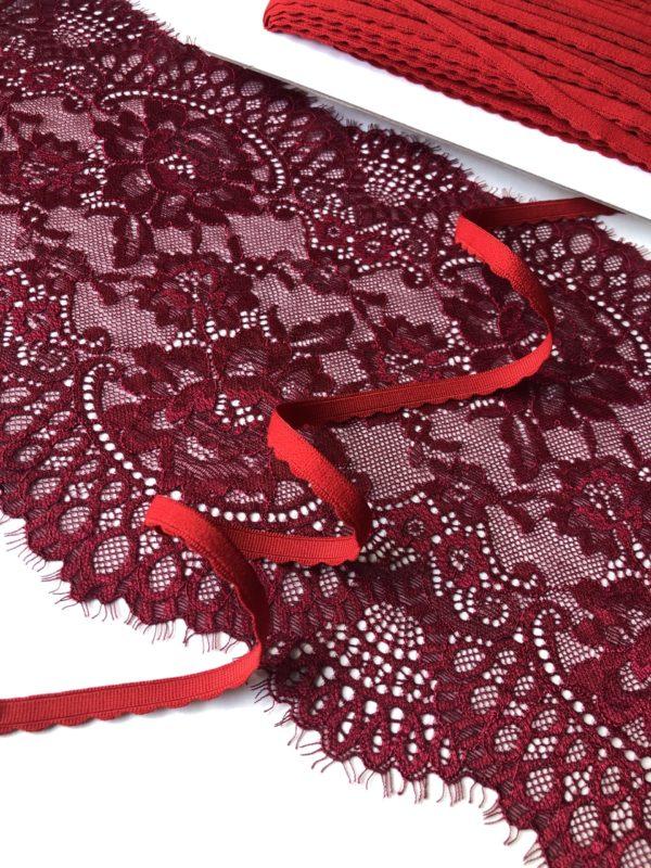 Резинка бельевая 8 мм красная