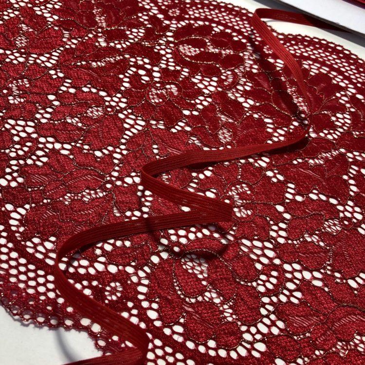 Резинка бельевая 6 мм красная