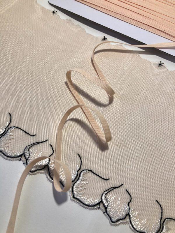 Резинка бельевая 6 мм пион