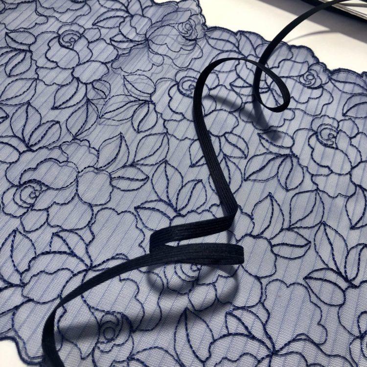 Резинка бельевая 6 мм тёмно-синяя