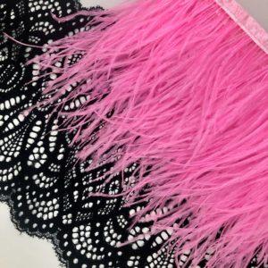 Перья страуса ярко-розовые