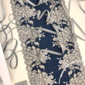 Набор для пошива нижнего белья синий с серым №226