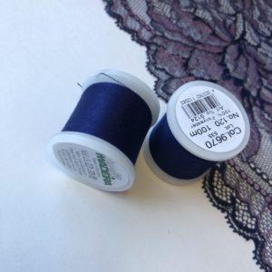 Нитки швейные Madeira aerofil №120 тёмно-синие Col. 9670