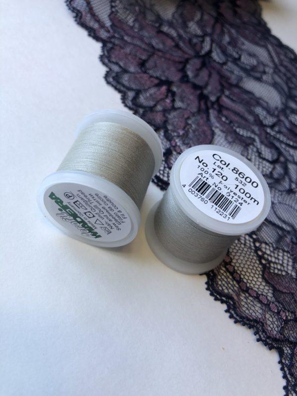 Нитки швейные Madeira aerofil №120 серые Col. 8600