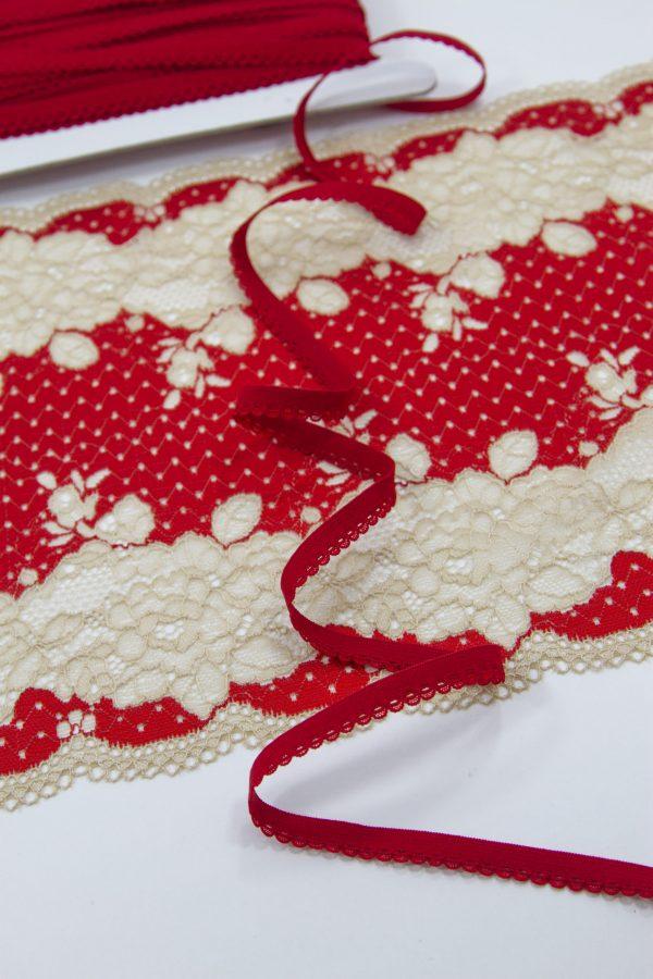 Резинка бельевая 9 мм красная