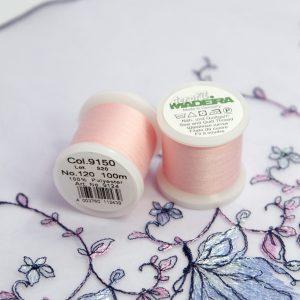 Нитки швейные Madeira aerofil №120 Col. 9150 светло-розовый