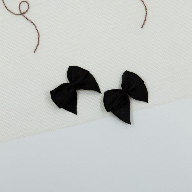 Бантик пришивной 1.5 см чёрный
